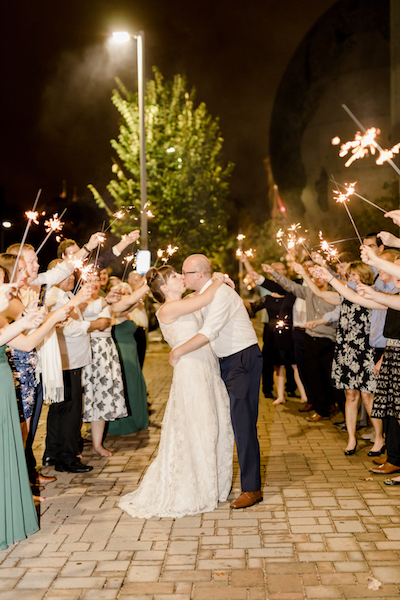 Wedding Sparkler Exit Raleigh Wedding