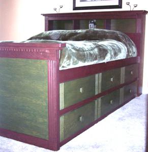 Queen High Storage Bed Plan
