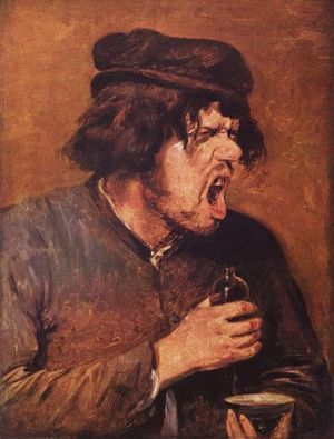 Adriaen Brouwer's The Bitter Tonic (1636-38), public domain