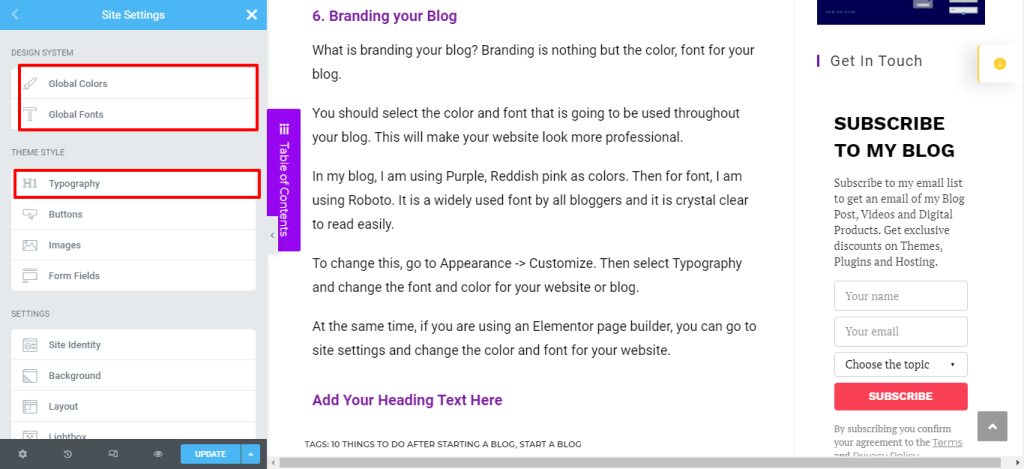 Elementor-10-Things-To-Do-After-Starting-a-Blog-In-2021