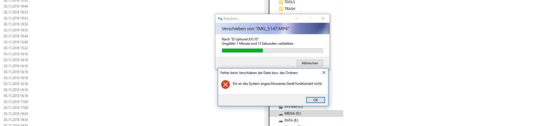 Bilder Ohne Absturze Vom Iphone Auf Den Windows Pc Ubertragen Das Angeschlossene Gerat Funktioniert Nicht Mehr Fehler Beheben Knowboard