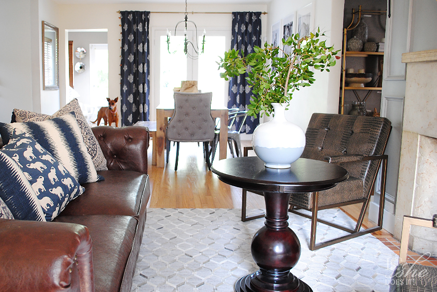 navy living room ideas. If like me you are trying to get out of your comfort zone with the  neutrals I suggest start a change decorative pillows by adding fun and Navy living room ideas for spring Know How She Does It