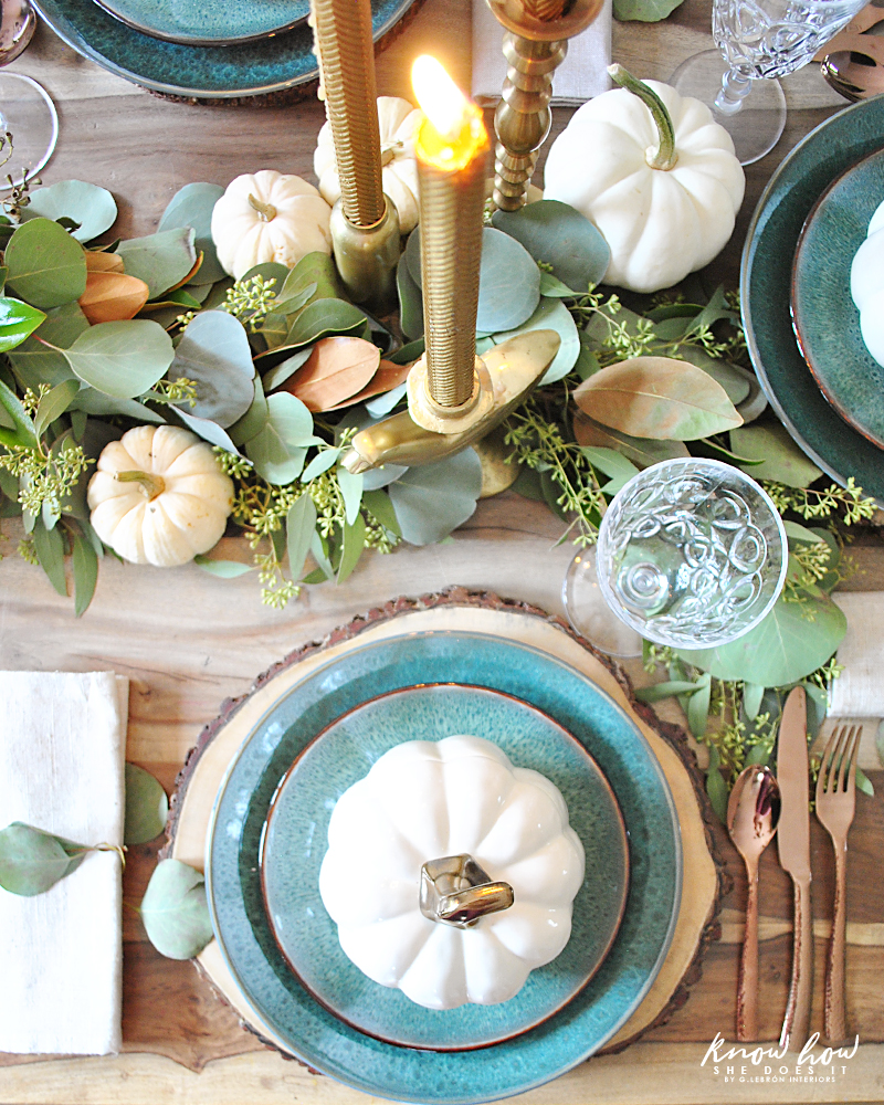 Thanksgiving Eucalyptus Table Garland