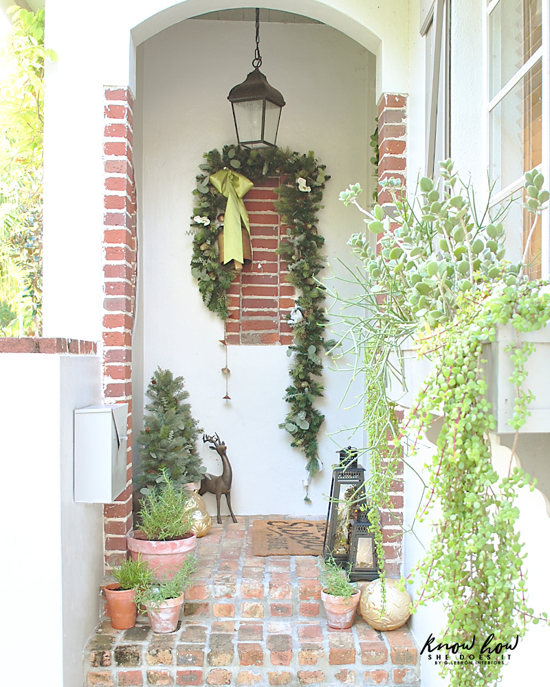 The Home Depot Holiday Style Challenge Small Porch Christmas decor