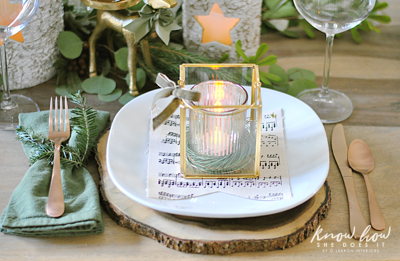 Winter Inspired Holiday Tablescape Mini Lantern 2