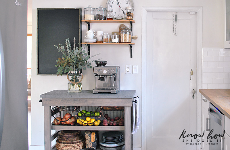 Coffee station and storage ideas for small kitchens cart 5
