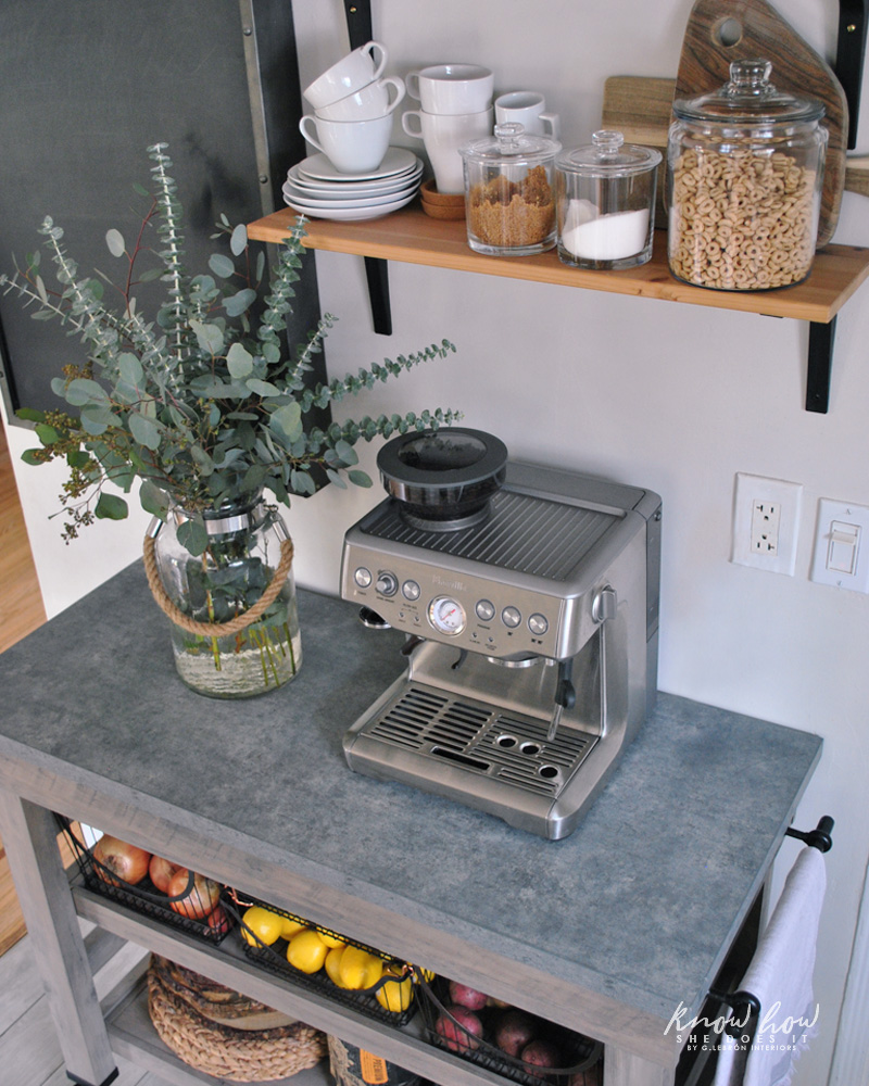 Coffee station and storage ideas for small kitchens cart 3