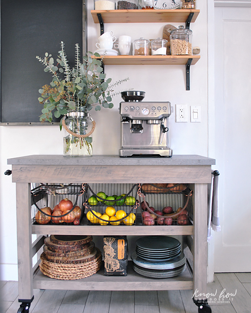 Coffee Station And Storage Ideas For Small Kitchens