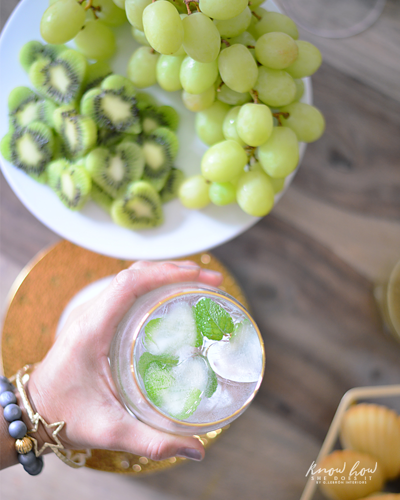Nature Inspired Galentine's Day Sparkling Water Heart Ice Cubes