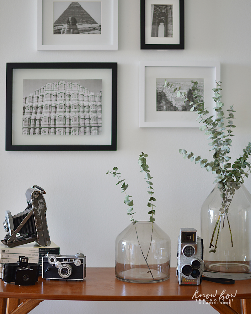How to take advantage of a small space Gallery Wall