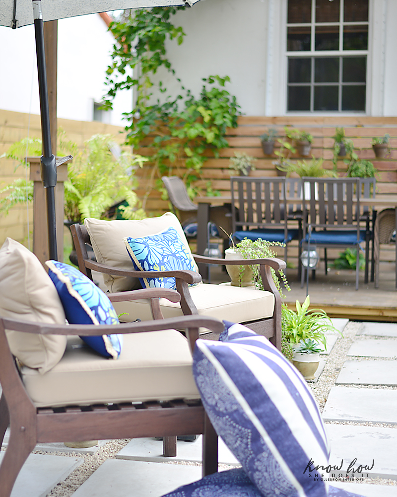 Colorful mix and match outdoor patio pieces 5