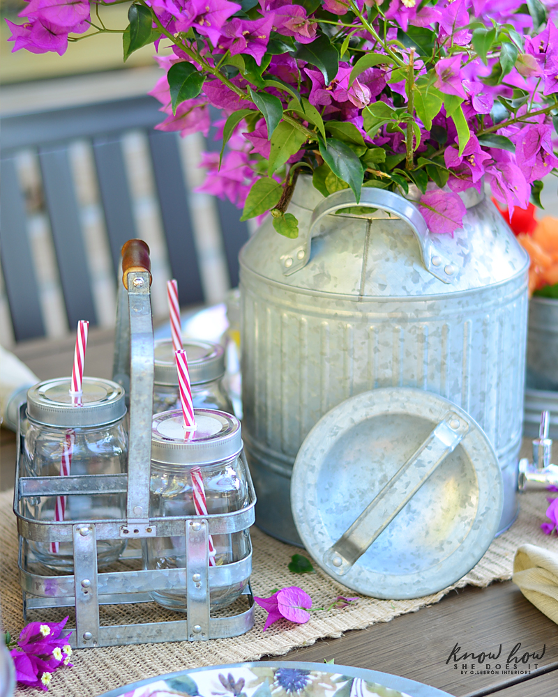 Bringing simple spring decor to outdoor entertaining Dispenser Flowers