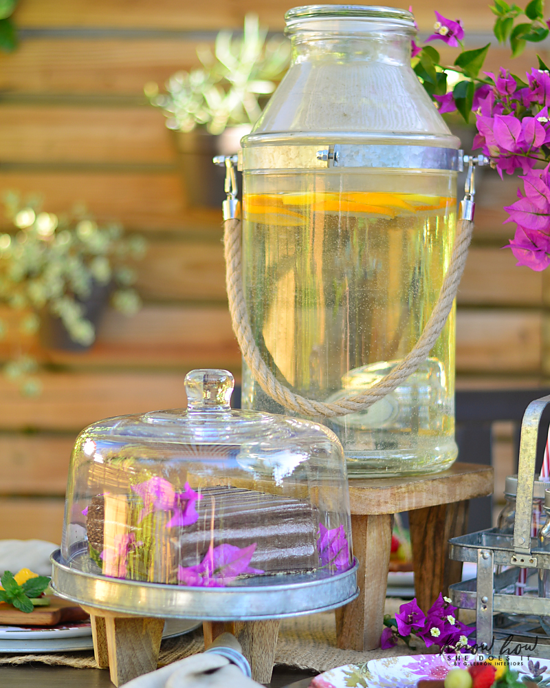 Bringing simple spring decor to outdoor entertaining Tall Dispenser