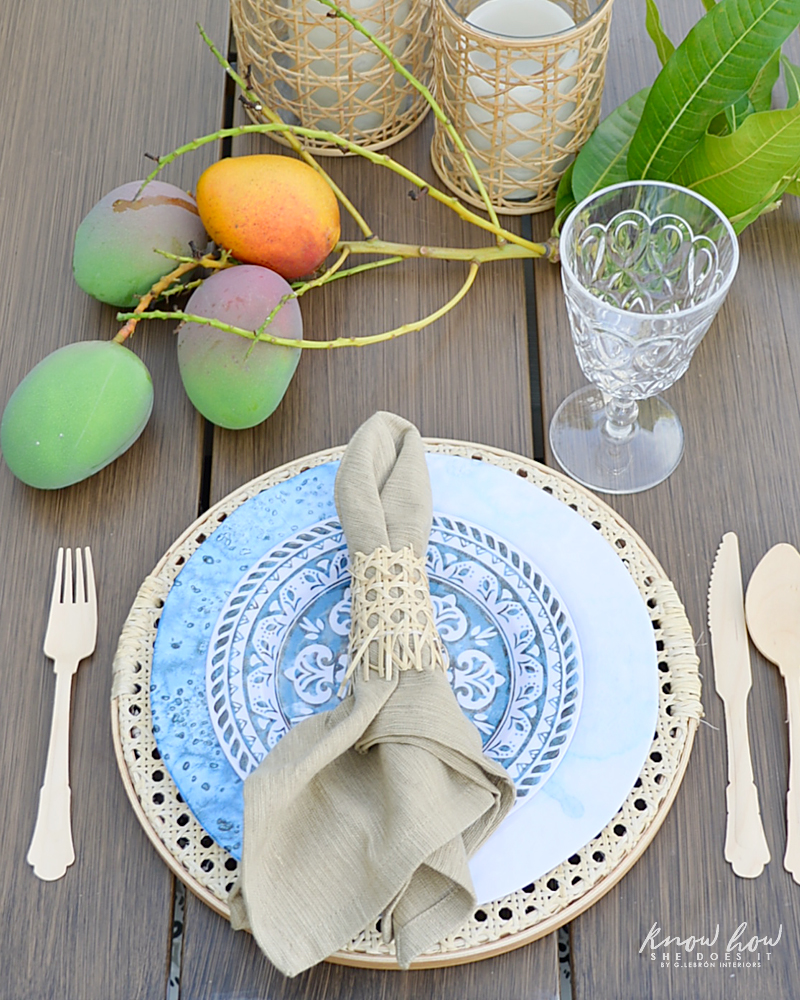 Cane Charger Plates Tutorial Table Setting