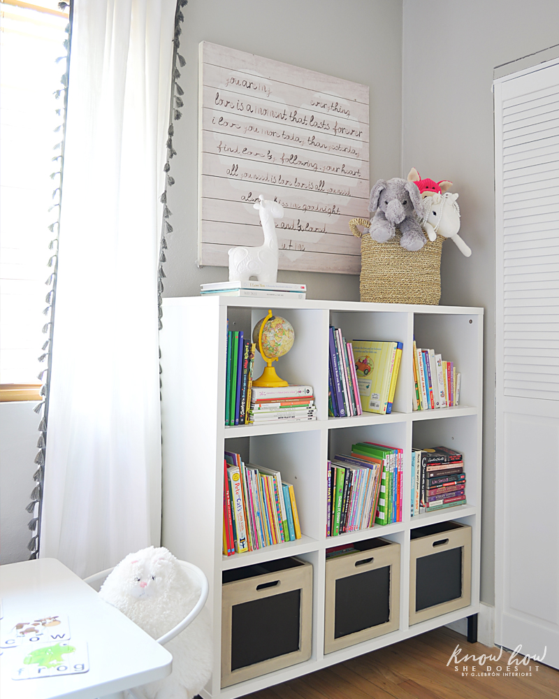 Bringing Happiness Girls Room bookcase 3