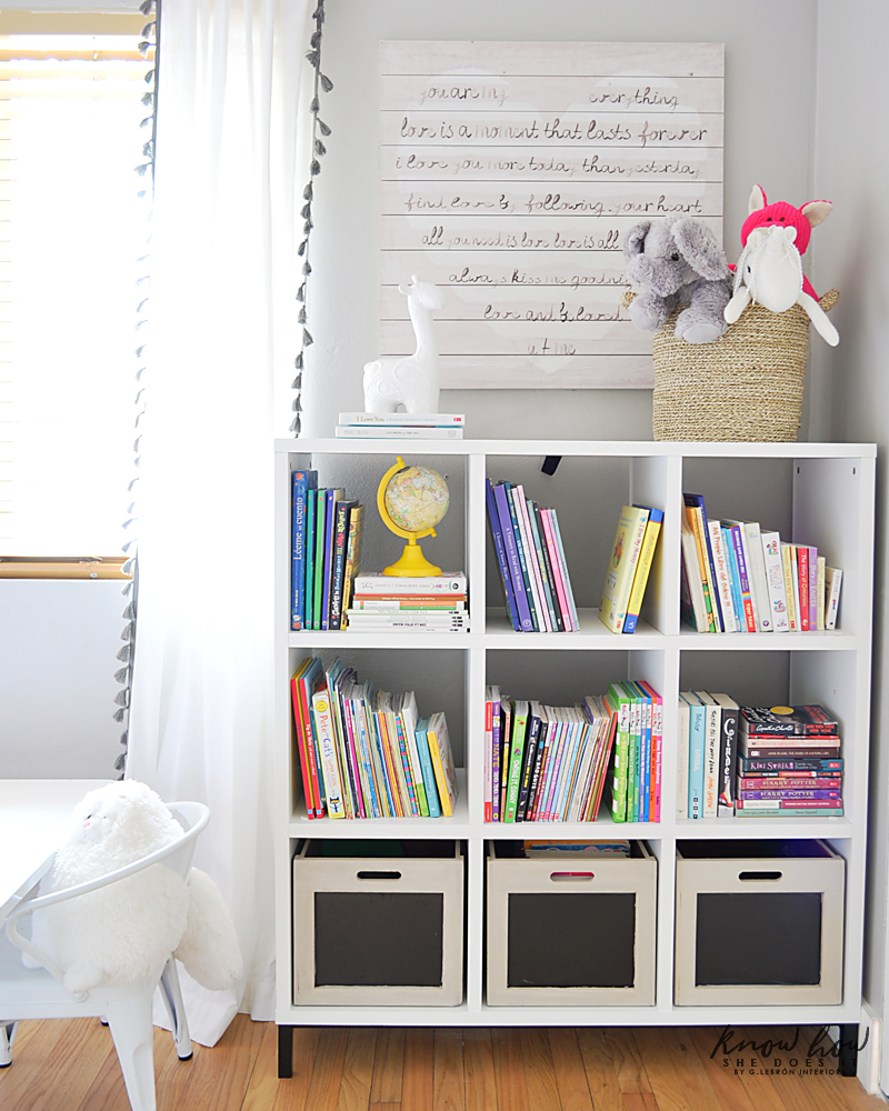 Bringing Happiness Girls Room bookcase 2