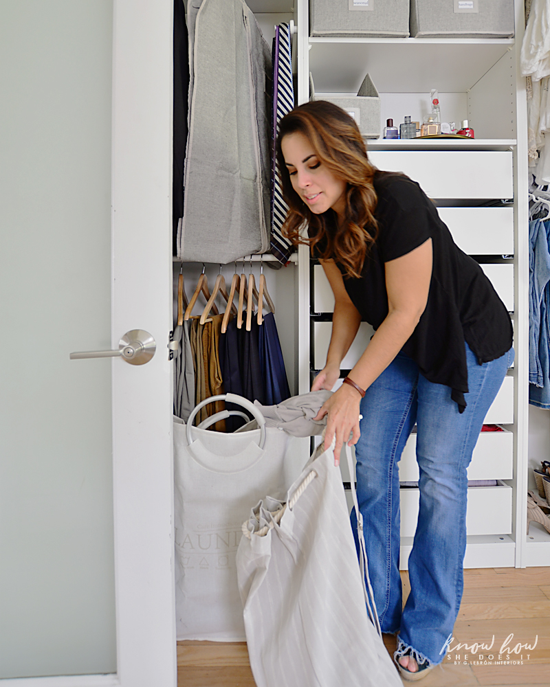 organizing tips for a clutter-free closet laundry 3