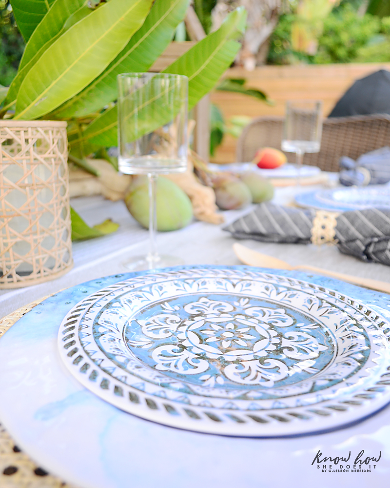 HomeGoods Summer Home Tour Table Setting 7