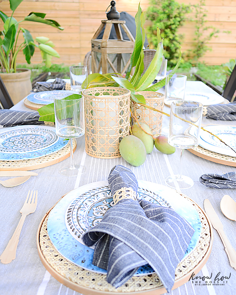 HomeGoods Summer Home Tour Table Setting 6
