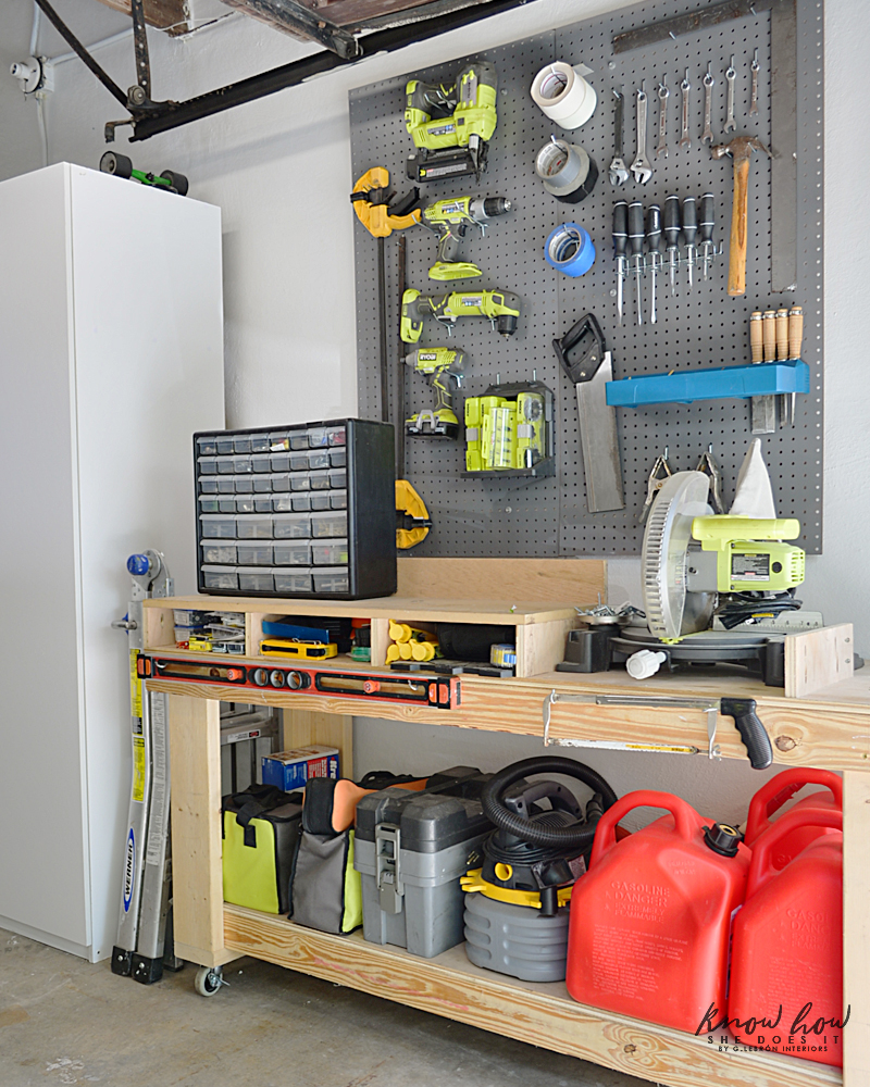 Old Garage Fresh Look Tools Pegboard