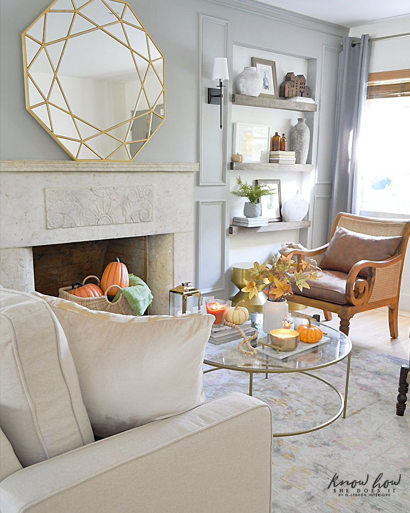 Affordable Fall Room Refresh Living Room 2