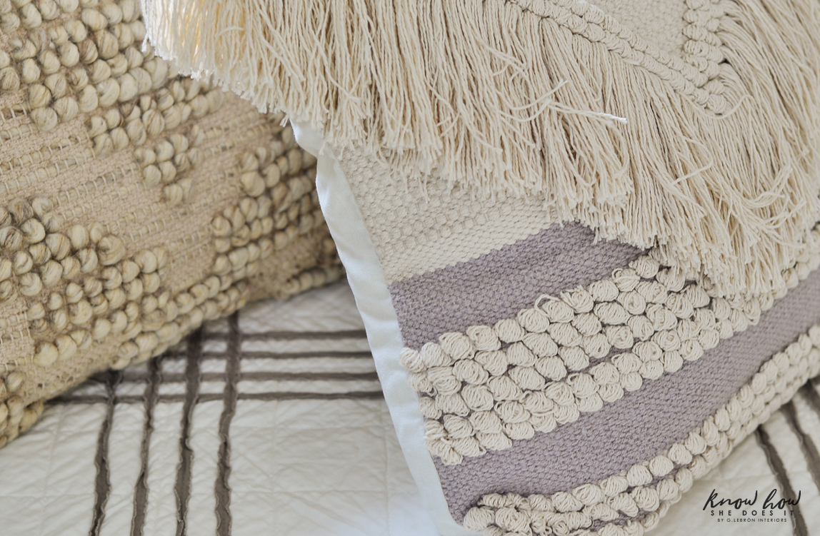 A dash of neutral boho throw pillows 3