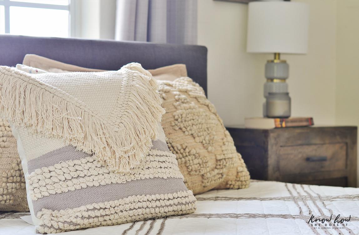 A dash of neutral boho throw pillows 2