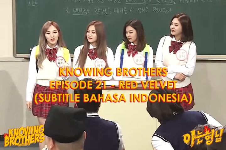 Knowing Brothers eps 21 – Red Velvet