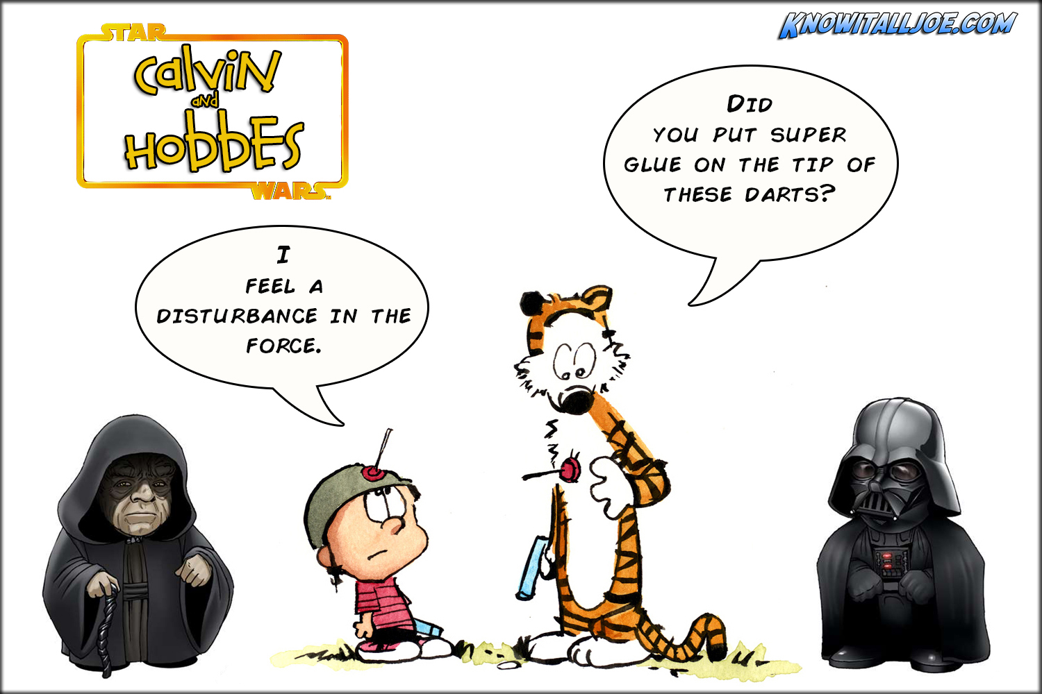 Star Wars Calvin And Hobbes With Border