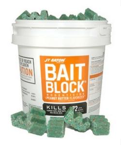 JT Eaton 709-PN Bait Block Rodenticide Anticoagulant Bait, Peanut Butter Flavor, For Mice and Rats