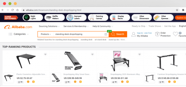 Figure 7 Home desk and office supplies on Alibaba