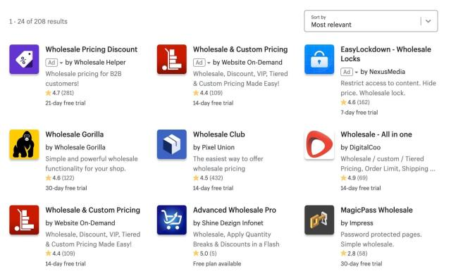 wholesale apps for shopify