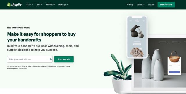 Shopify sell handmade and craft products