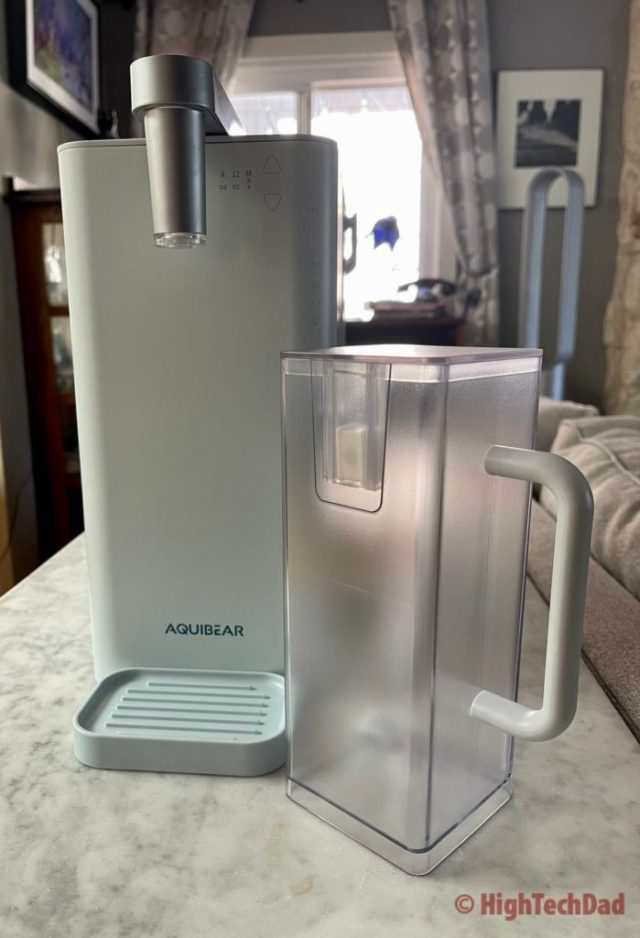 Removable water pitcher - Aquibear RO Countertop Water Purifier - HighTechDad review