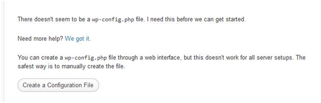 wordpress install on localhost