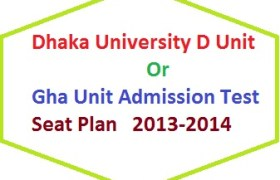 Du d unit admission seat plan 2013