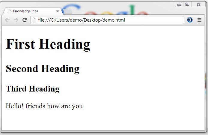 HTML  Tutorial - Knowledgeidea.com