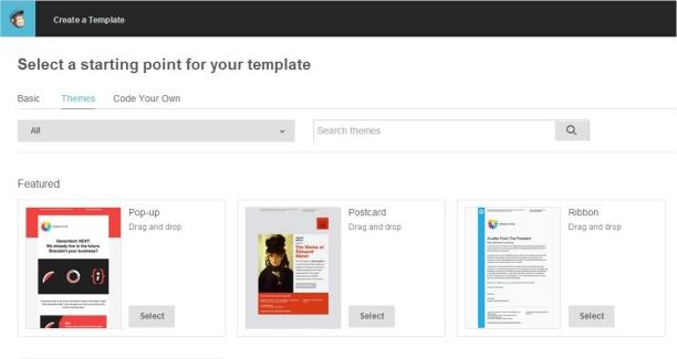 MailChimp temple page