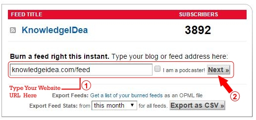 How to Setup FeedBurner For WordPress Step 1