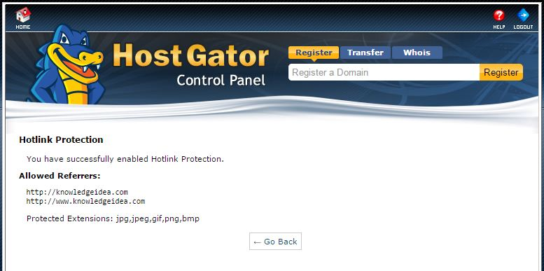 How to Enable Hotlink Protection in HostGator cPanel step3