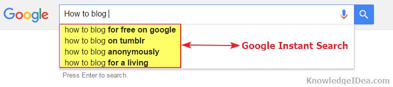 Google Instant Search Guide demo