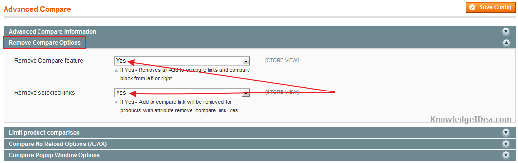 How to Disable Magento Add to Compare Functions Step 2