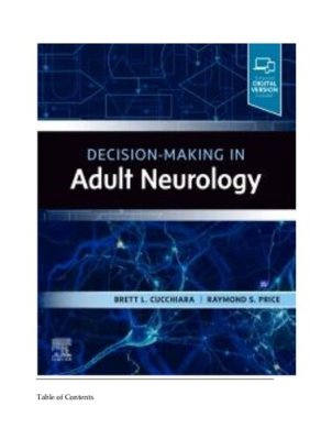 Decision Making In Adult Neurology – 2020