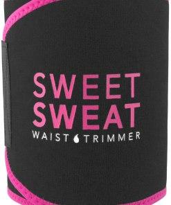Sweet Sweat Waist Trimmer - Black-Pink -Premium Waist Trainer Sauna Suit for Men & Women