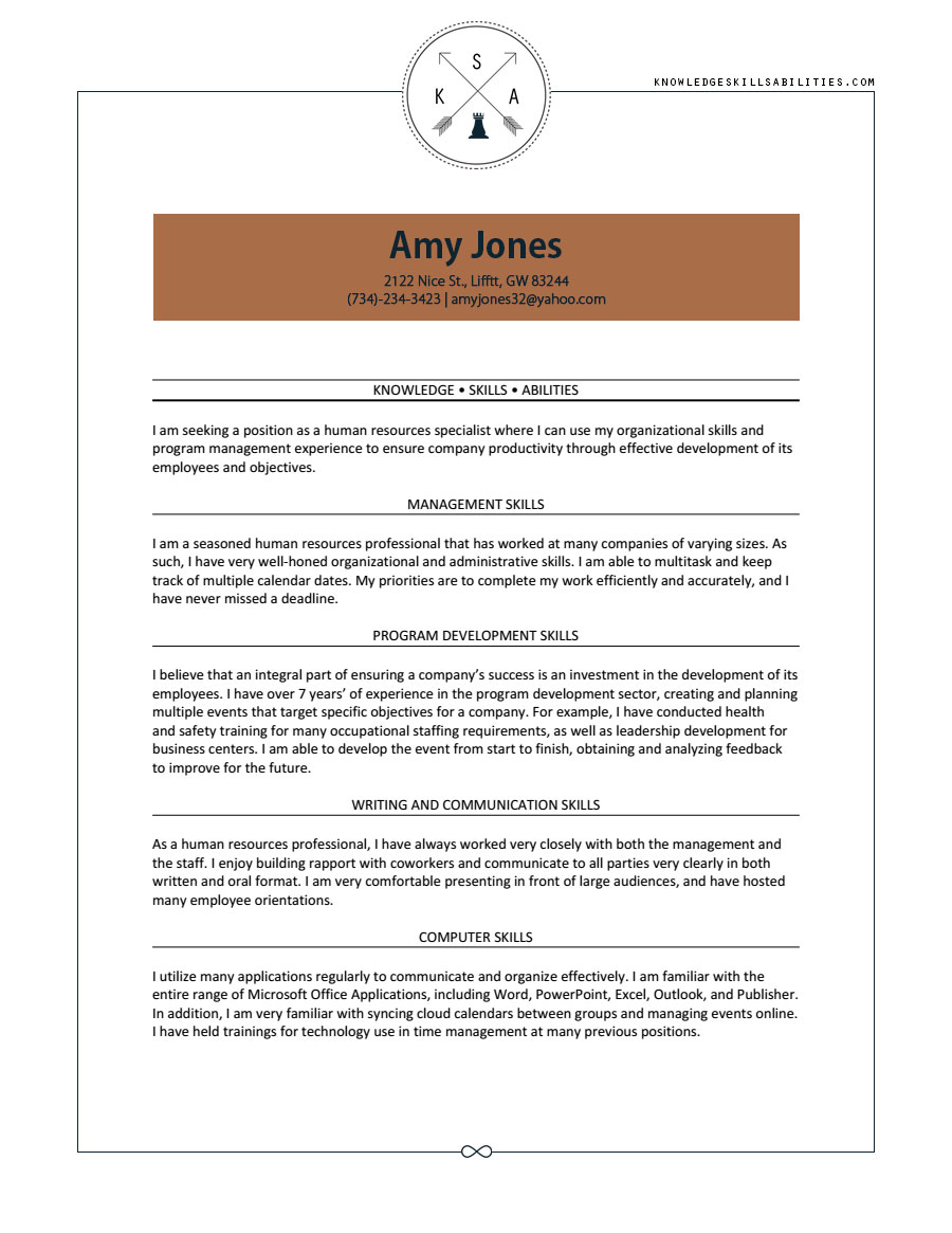 Teacher Resume Skills And Abilities. example resume skills and ...