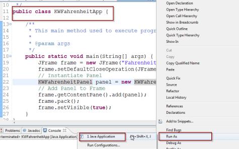 Java Swing – Fahrenheit to Celsius Conversion Application
