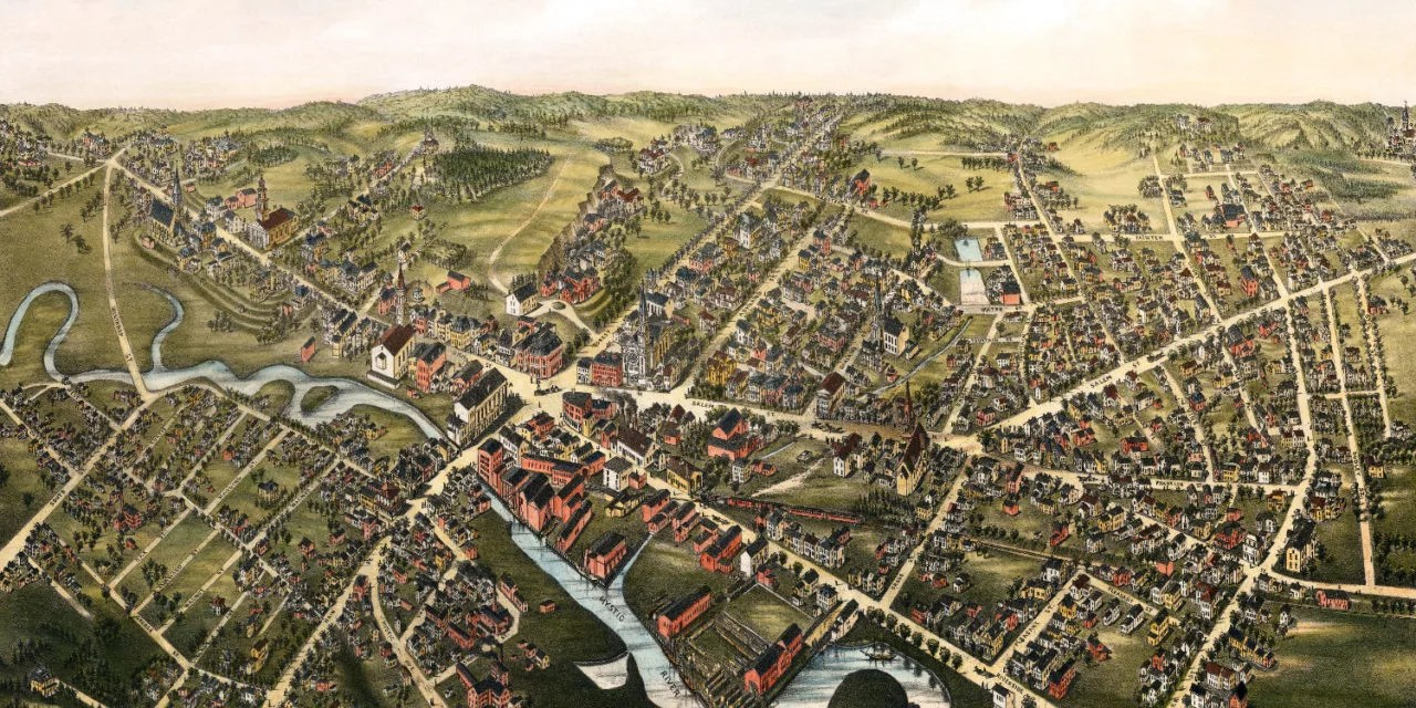 Amazing old map of Medford  Massachusetts from 1880   KNOWOL Amazing old map of Medford  Massachusetts from 1880