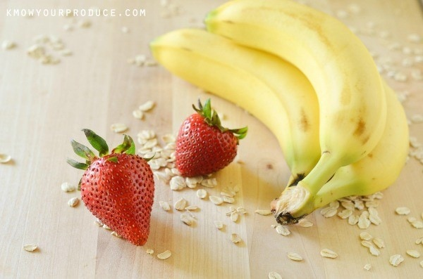 Image result for strawberry banana smoothie and oatmeal