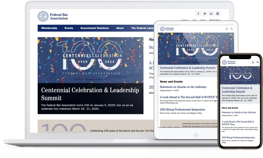 Federal Bar Association Website: All Screens