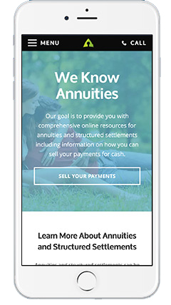 Annuity.com on iPhone